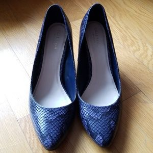 Cole Haan leather Lena Wedges - size 7
